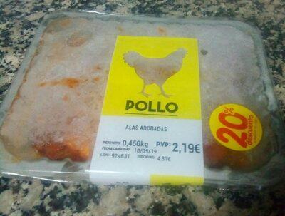 Alas adobadas de pollo