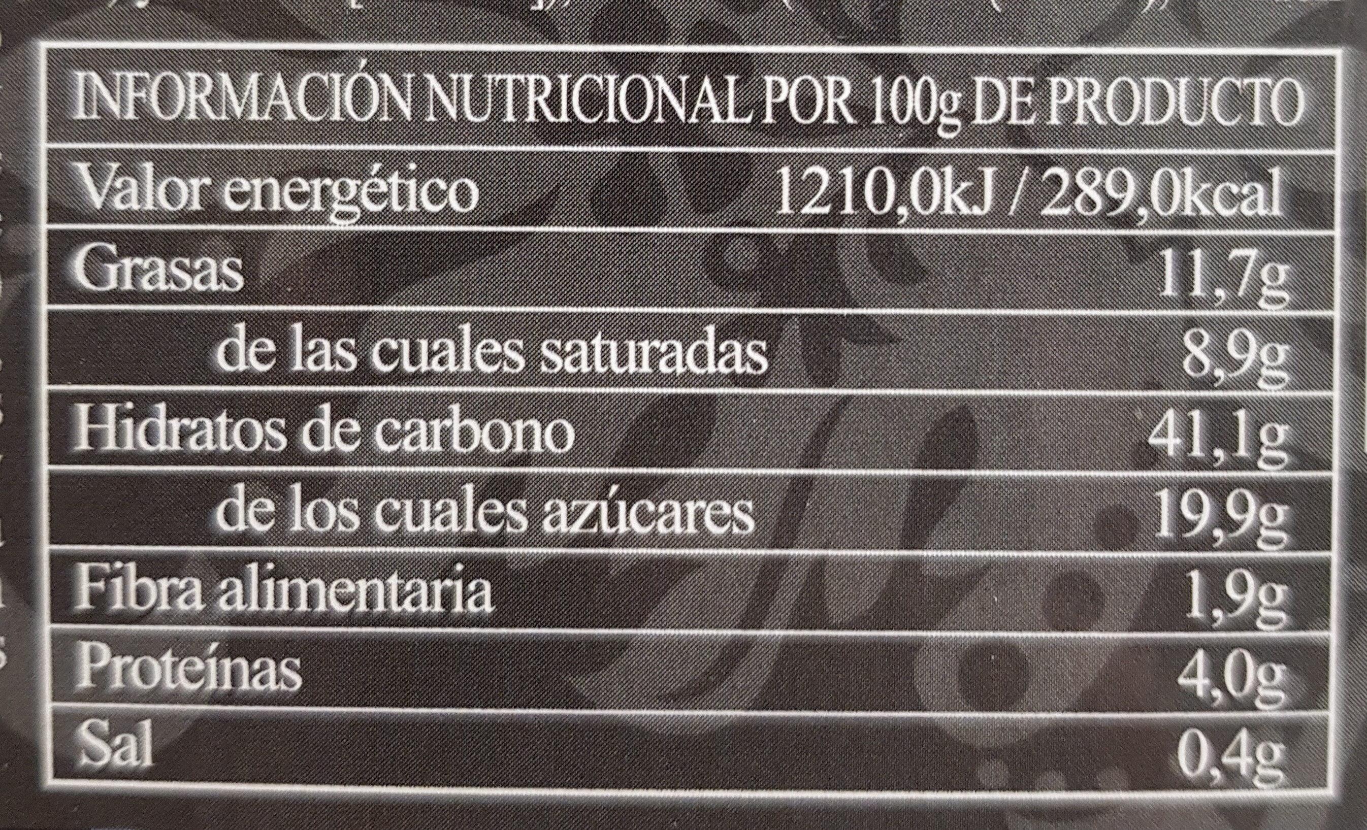 Roscón de reyes Gourmet - Información nutricional - es