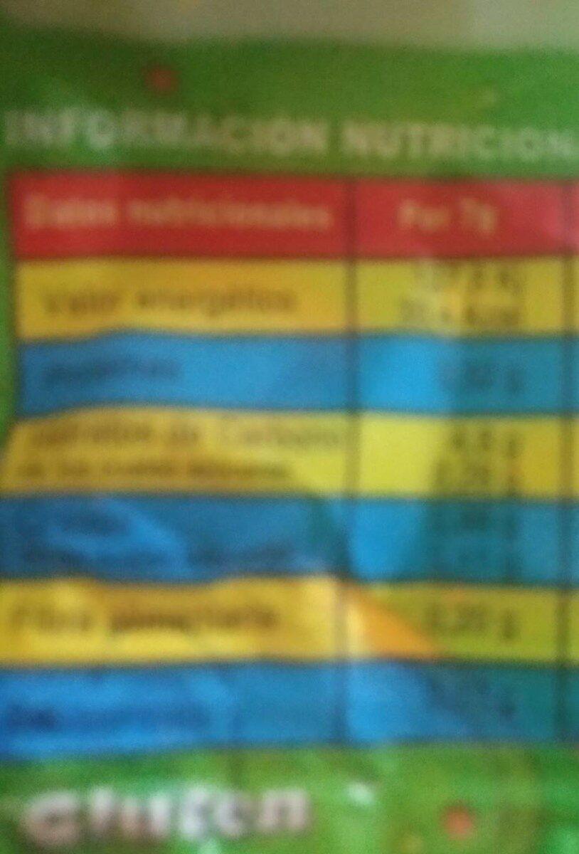 Bichitos - Nutrition facts - es