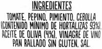 Gazpacho - Ingredientes