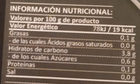 Tomate rallado - Nutrition facts
