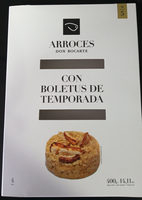 Arroces Don Bocarte con boletus de temporada - Producte