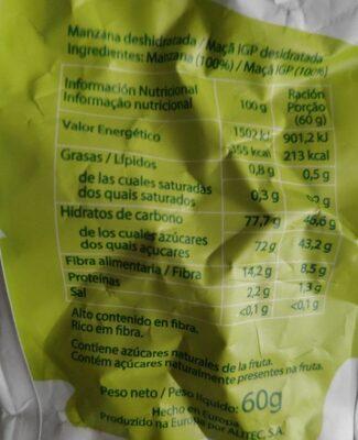 FRUTA NATURE - Informations nutritionnelles - es