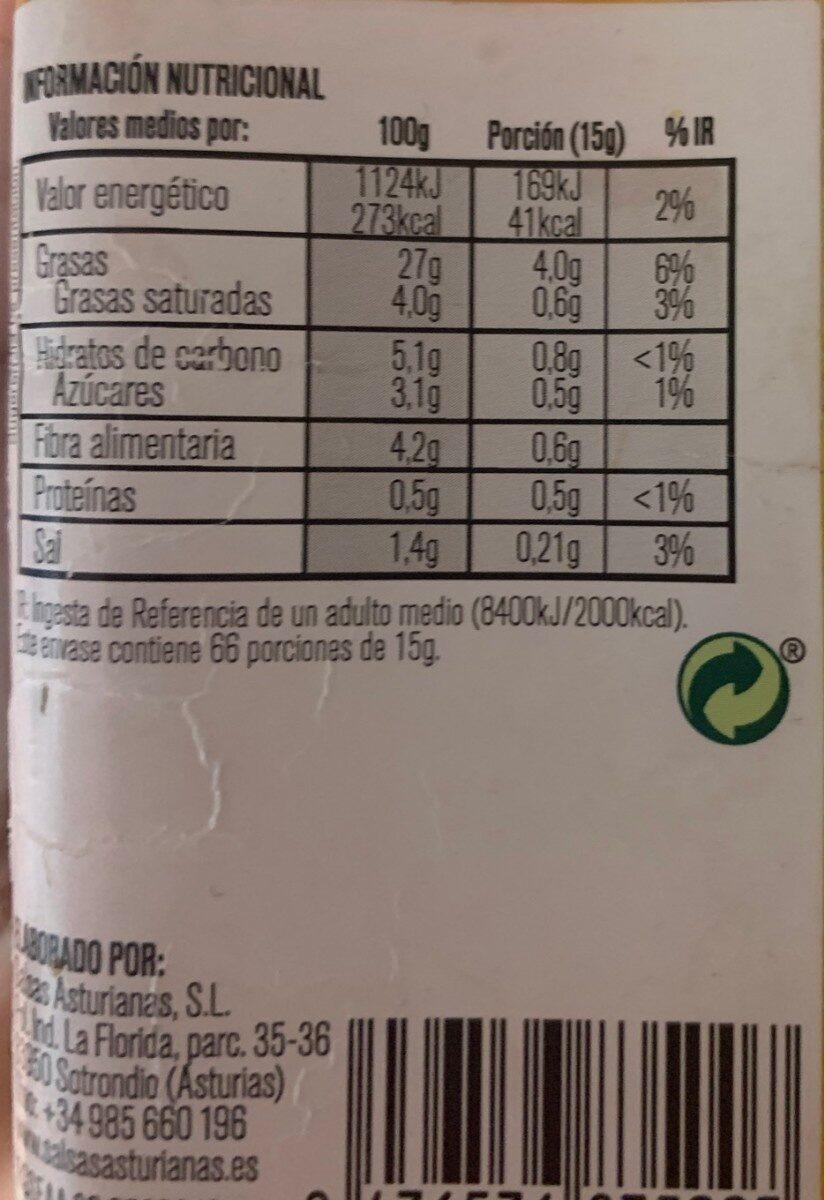 Mojo picón - Nutrition facts