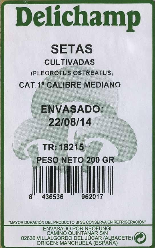 Setas pleorotus - Informations nutritionnelles