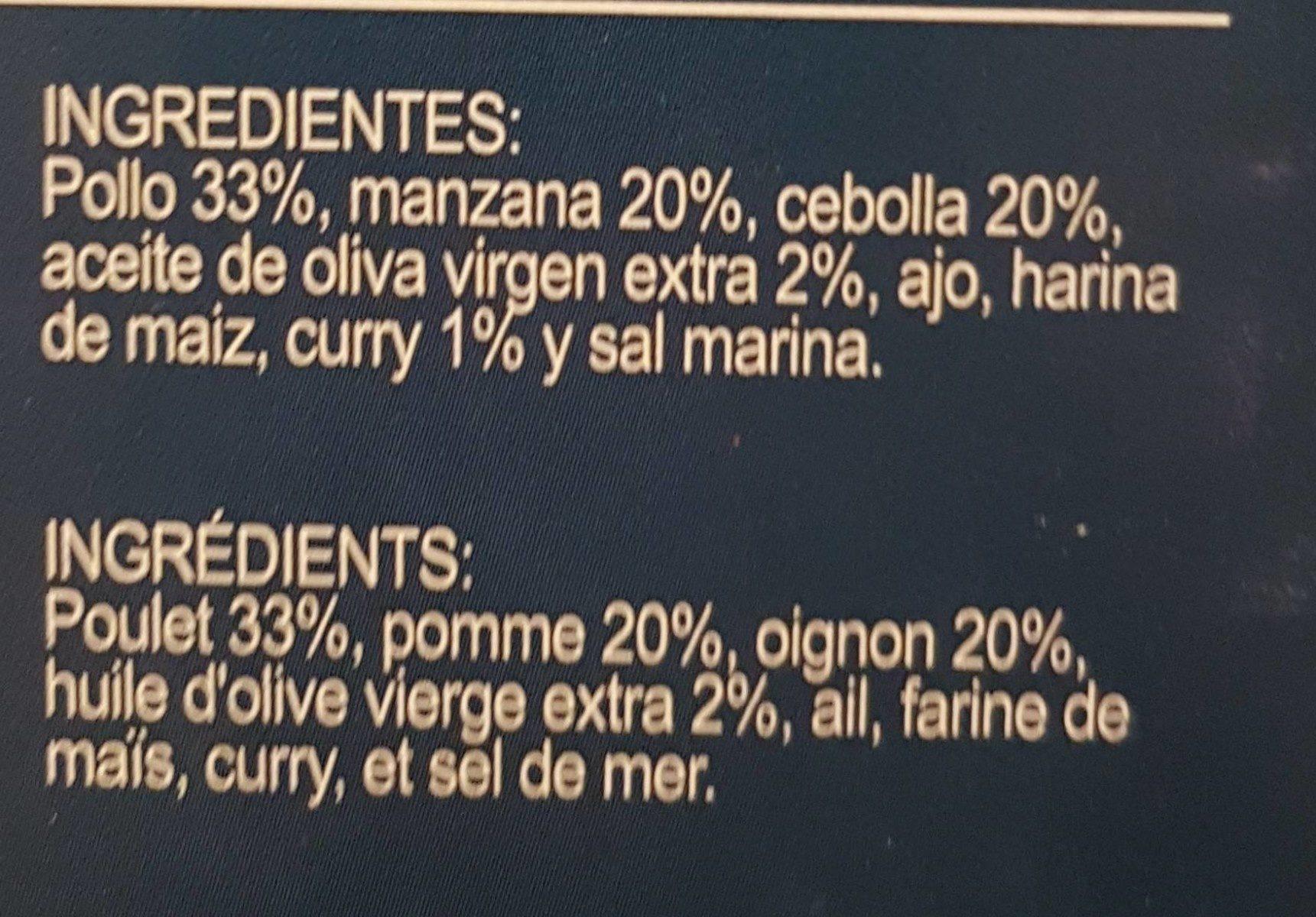 Poulet au curry - Inhaltsstoffe