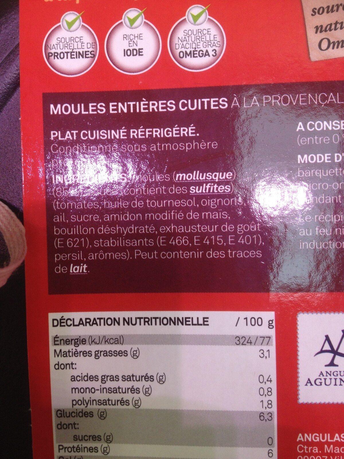 Moule - Ingredients