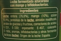 Yaourt Bifidus Auchamp Espagne - Ingredients
