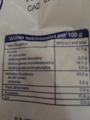 Regañá Cordobesa - Información nutricional - es