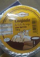 Cuajada de leche de oveja con turrón - Produit - es