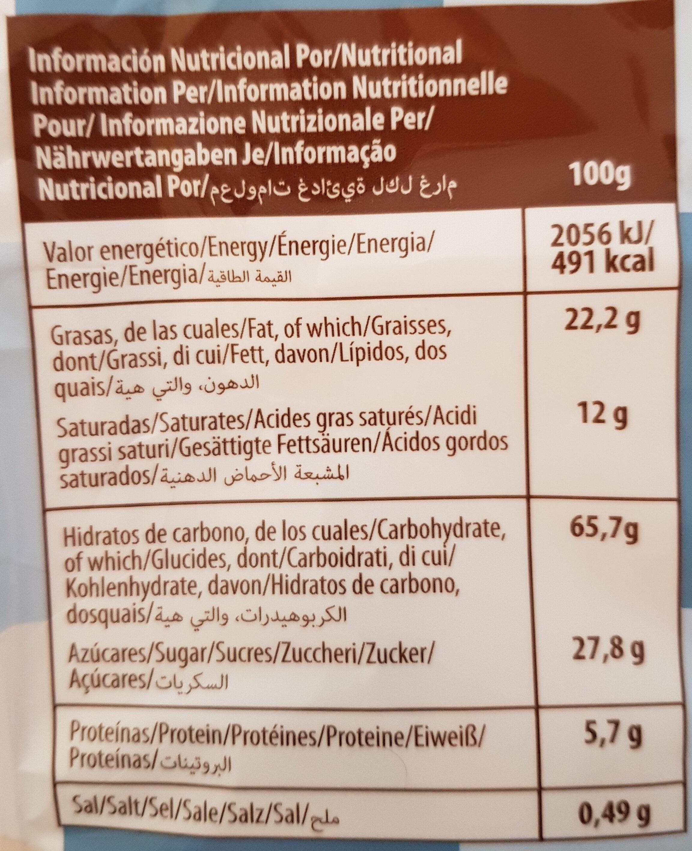 Gran selección de barquillos y galletas - Nutrition facts