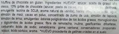 Muffins sin gluten  chocolate - Ingredientes - es
