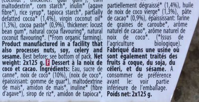Coco Cacao - Ingredients