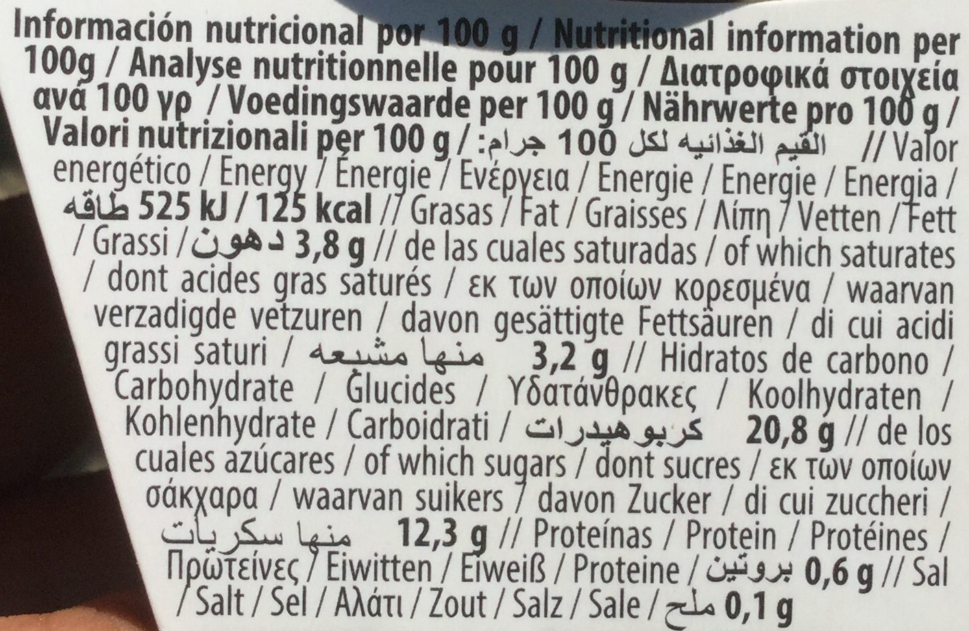 Coco Cacao - Nutrition facts - fr