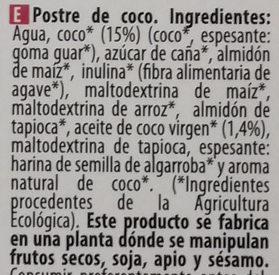 Coco Original - Ingredients - es