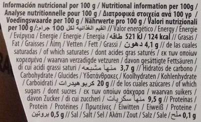Coco Original - Nutrition facts - es