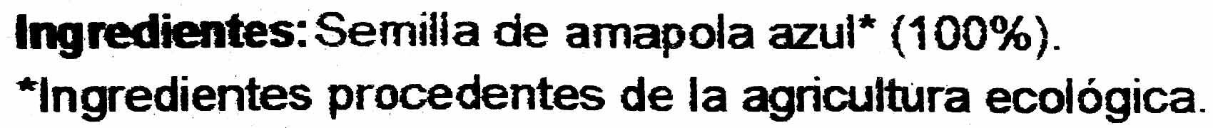 Semilla de Amapola - Ingredients