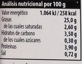 Hummus Paprica - Información nutricional - es
