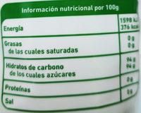 Panela - Información nutricional