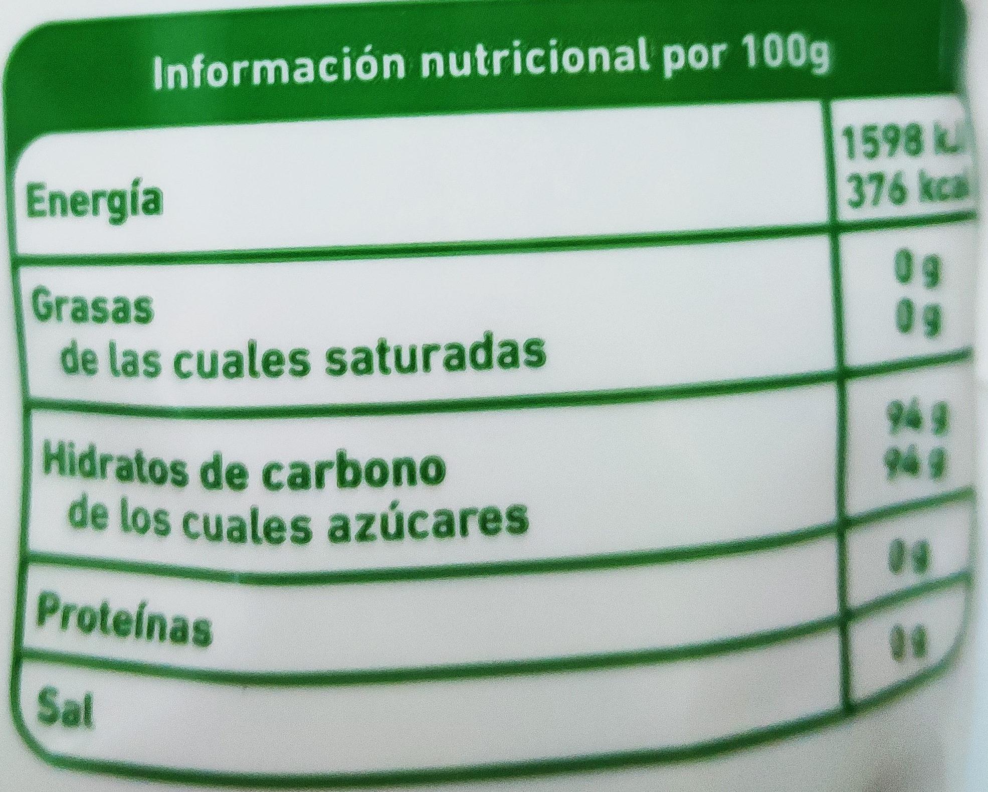 Panela - Voedingswaarden - es