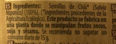 Semillas de Chía - Ingredientes