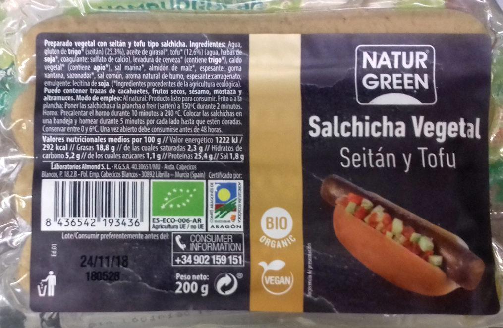 Salchicha Vegetal Seitán y Tofu - Product