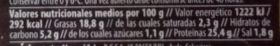 Salchicha Vegetal Seitán y Tofu - Nutrition facts