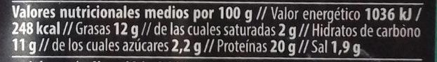 Salchicha Vegetal Tofu y Quinoa - Información nutricional