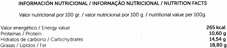 Bolitas de tofu con curry - Informations nutritionnelles - es