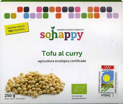"""Tofu ecológico """"Sojhappy"""" Al curry - Produit"""
