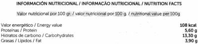 """Tofu ecológico """"Sojhappy"""" Con plátano - Nutrition facts"""