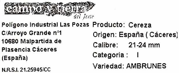 Picotas - Ingredients - es