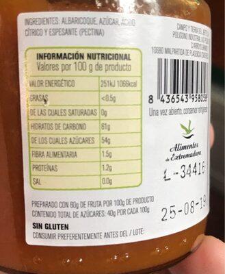 Mermelada extra de albaricoque - Informations nutritionnelles - fr