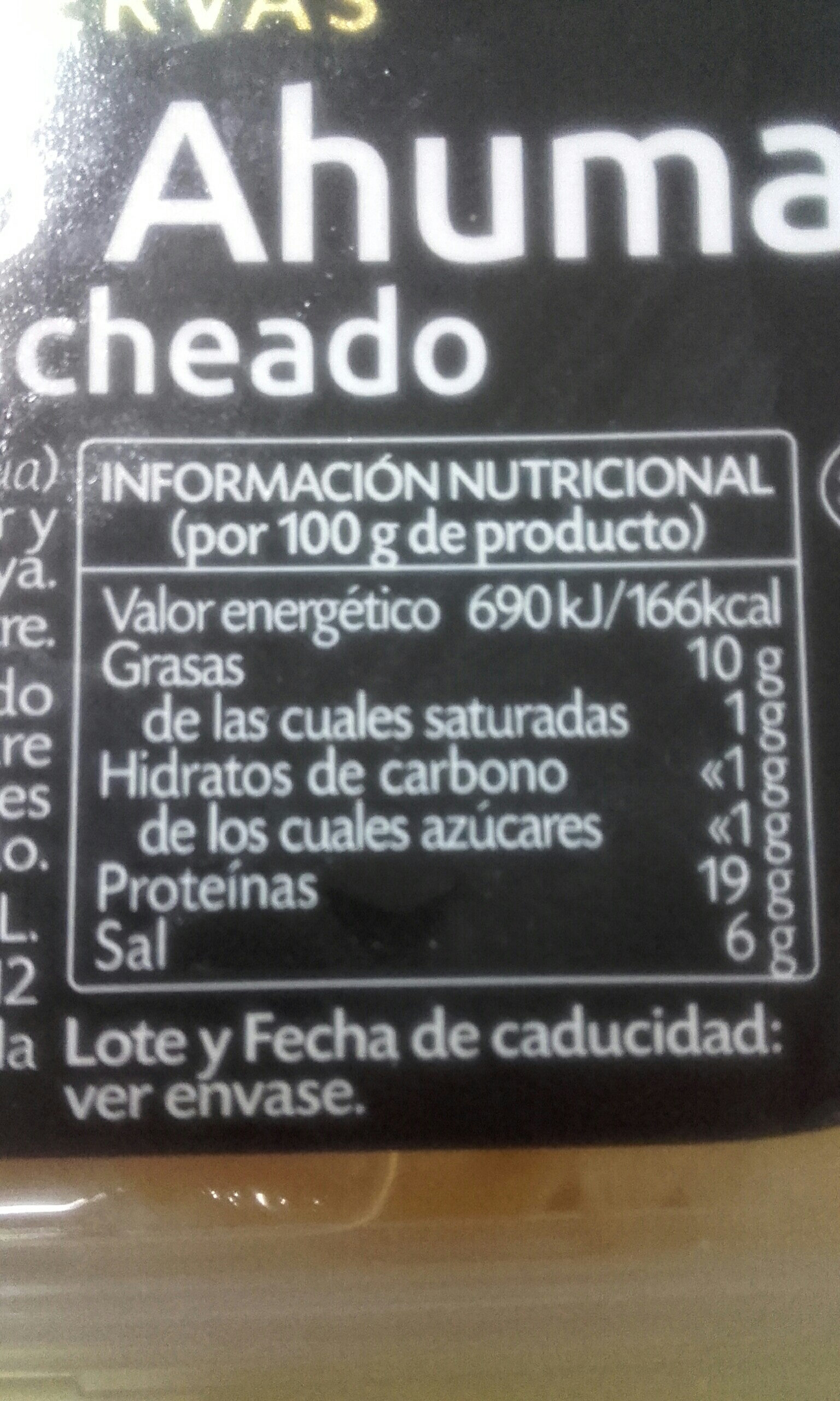 bacalao ahumado - Informations nutritionnelles