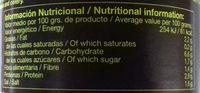 curry vegano - Información nutricional - es