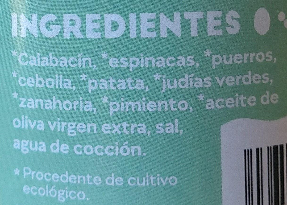 Crema de verduras y hortalizas - Ingredients - es