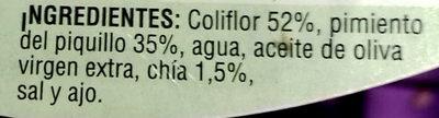 Coliflor con pimiento del piquillo y chía - Ingredients