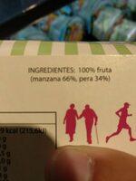 Postre de Manzana Asada con Pera - Ingrediënten - es