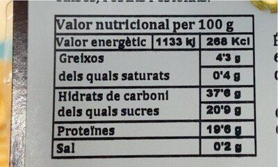 Setas deshidratadas - Informations nutritionnelles - es