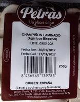Champiñon - Ingrédients