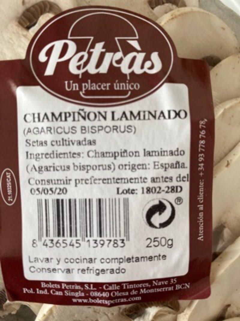 Champiñon - Informations nutritionnelles - es