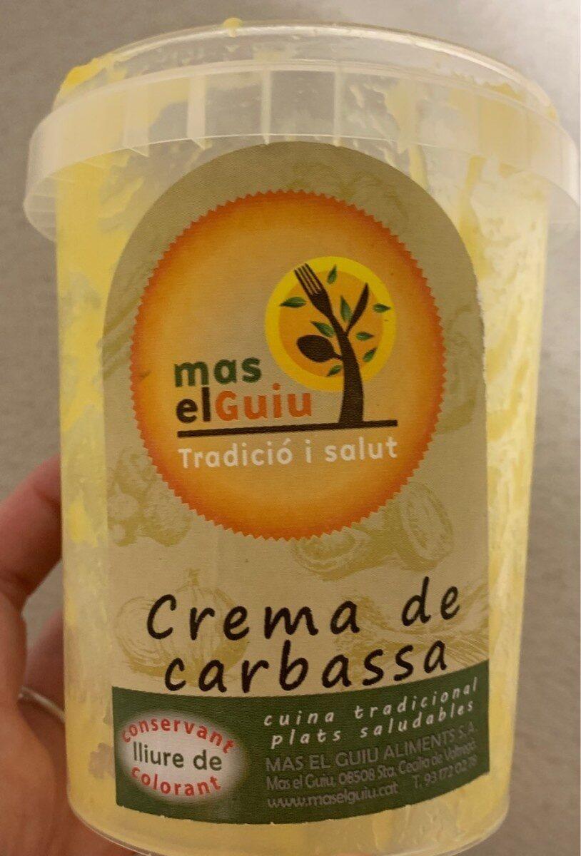 Crema de carbassa - Produit - es