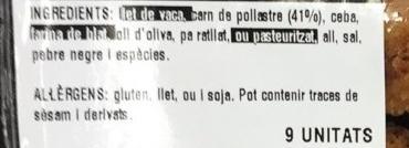 Croquetes de pollastre - Ingredients - fr