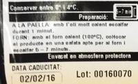 Croquetes de pollastre - Nutrition facts - fr