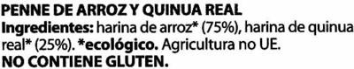 Penne de arroz y quinoa - 1