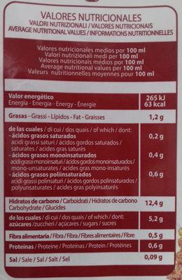 Bebida de Quinua Real y arroz - Información nutricional