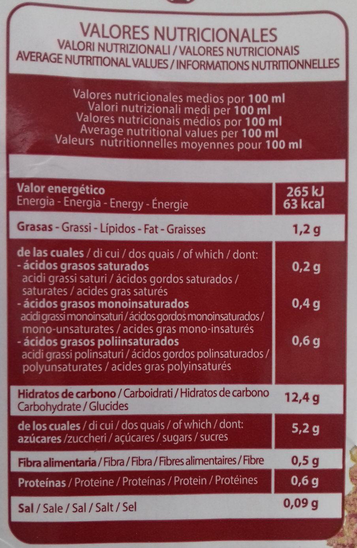 Bebida de Quinua Real y arroz - Nutrition facts - es