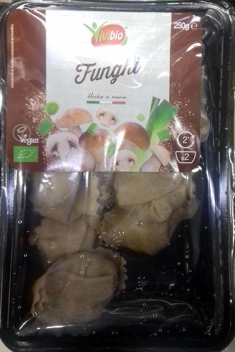 Pasta fresca ecológica rellena de setas - Producto - es