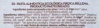 Pasta fresca ecológica rellena de setas - Ingrédients