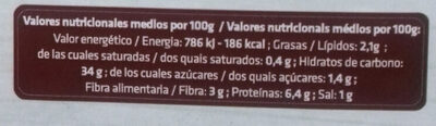 Pasta fresca ecológica rellena de setas - Informations nutritionnelles
